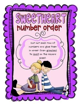 Students will cut out each set of numbers and glue them in order from greatest to least....
