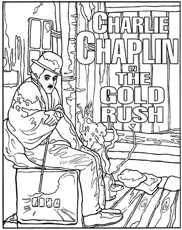 Charlie Chaplin Coloring Page Classic Movie Posters Coloring Books Coloring Book Art