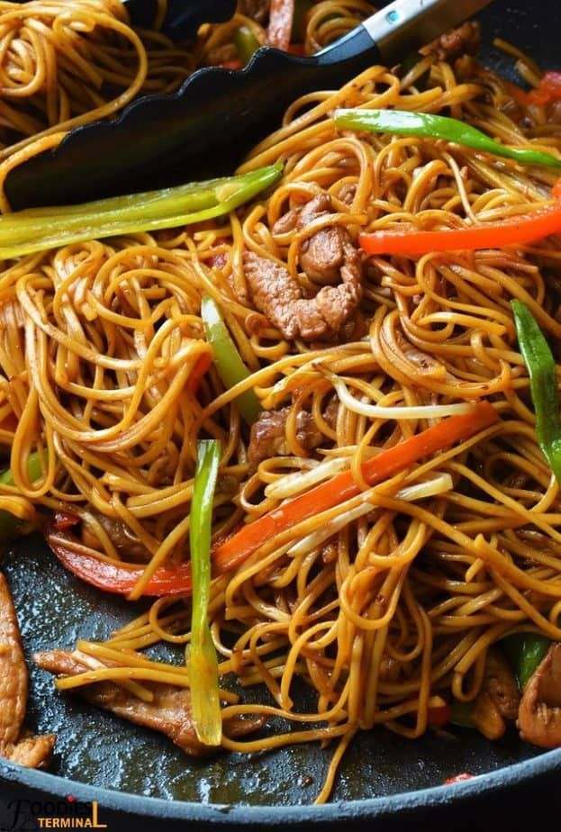 Authentic Chicken Lo Mein Recipe Food recipes, Chicken