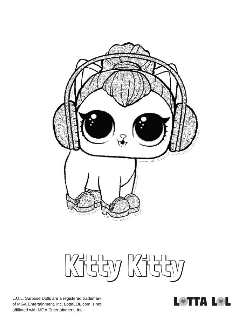Kitty Kitty Coloring Page Lotta