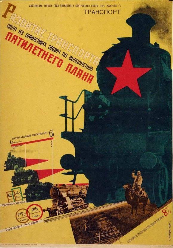 Five Year Plan Propaganda Poster 1929 By Gustav Klutsis In High Resolution Hudozhestvennye Postery Plakat I Starye Plakaty