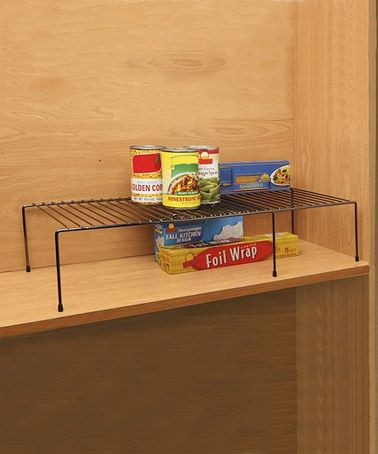 Take a look at this expandable cabinet helper shelf set for Off the shelf kitchen units