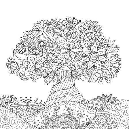 Descargar - Hermoso árbol abstracto florales suelo para elemento de ...