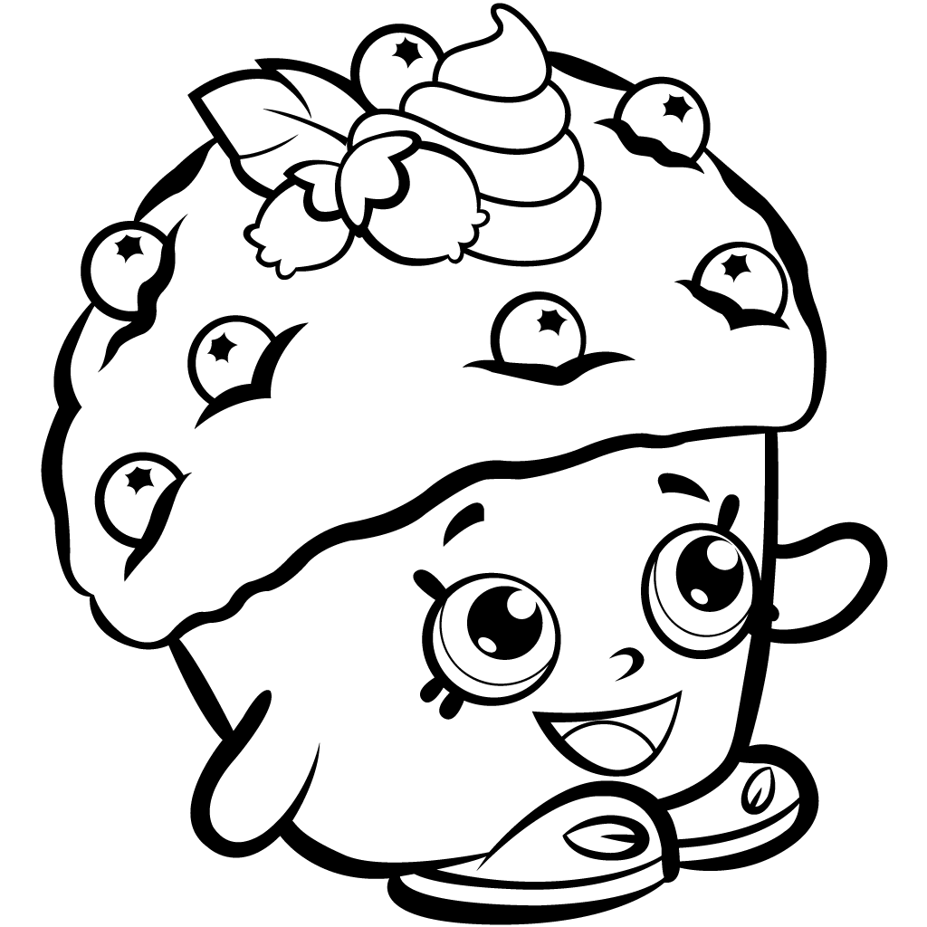 muffin coloring pages for kids | Shopkins Season 1 Mini Muffin Coloring Page | Shopkins ...