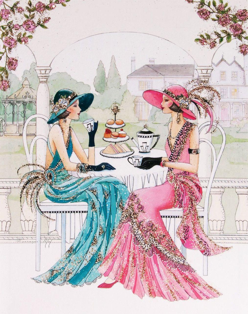Art deco lady pinteres for Art deco illustration