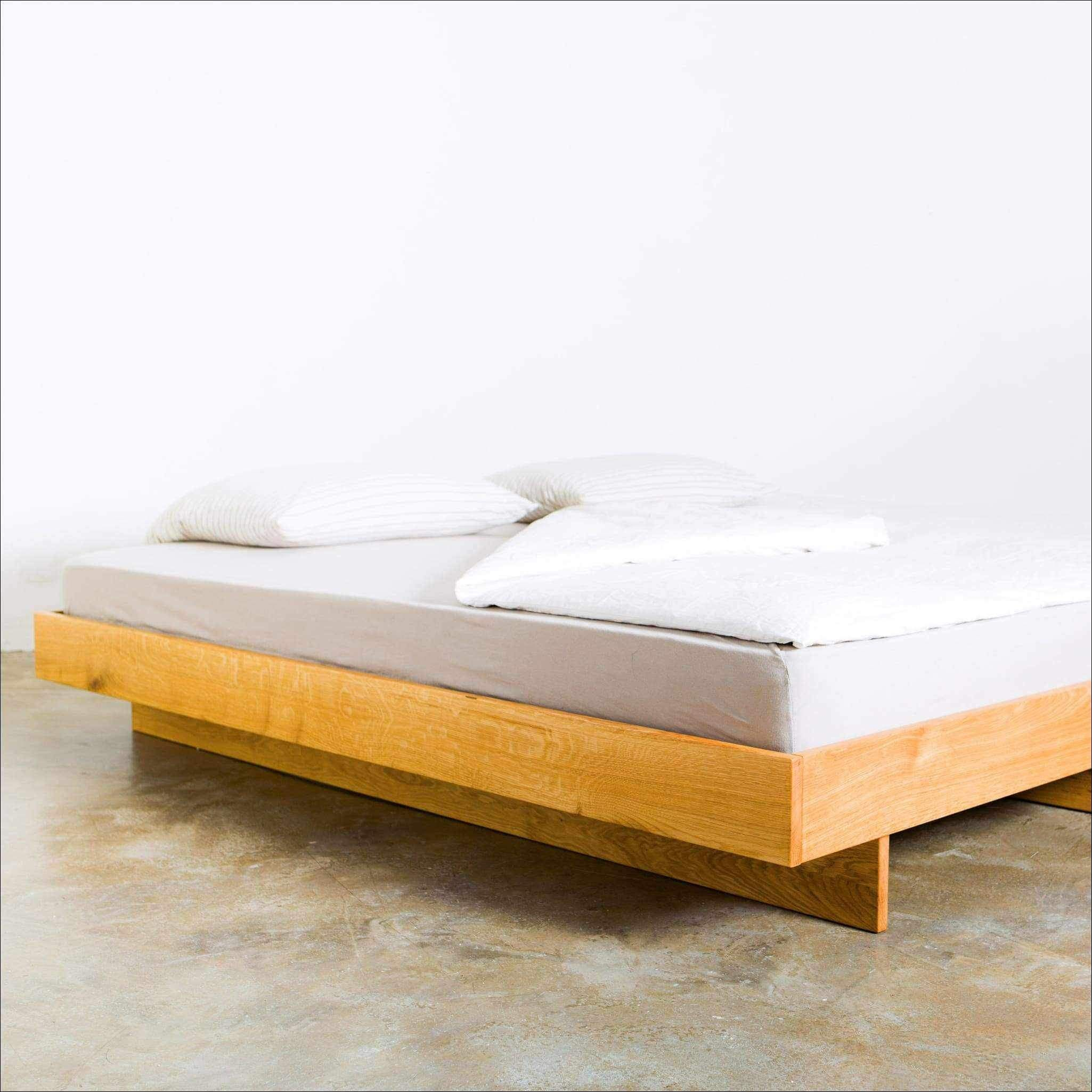 Minimal Bed Frame Handmade From European Oak King Queen
