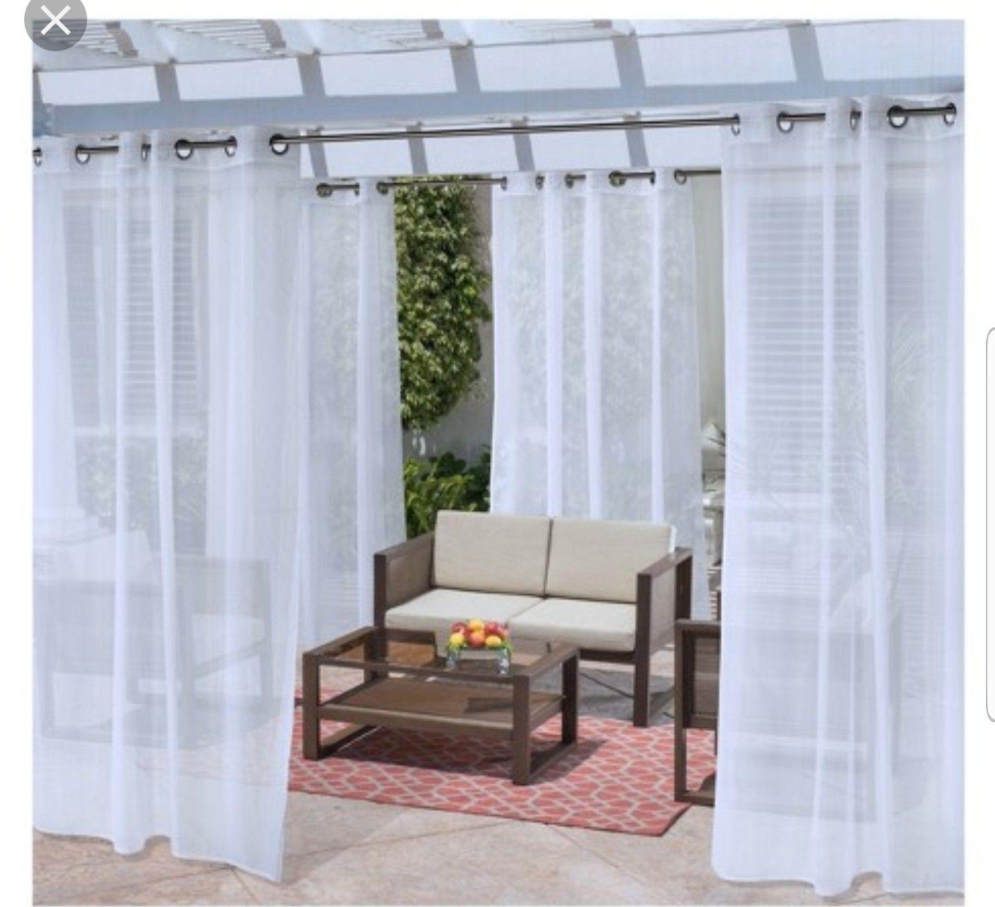 Screen alternative Outdoor curtain panels, Outdoor