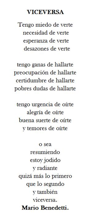 Mario Benedetti Poeme Et Citation Citation Et Je Pense à Toi