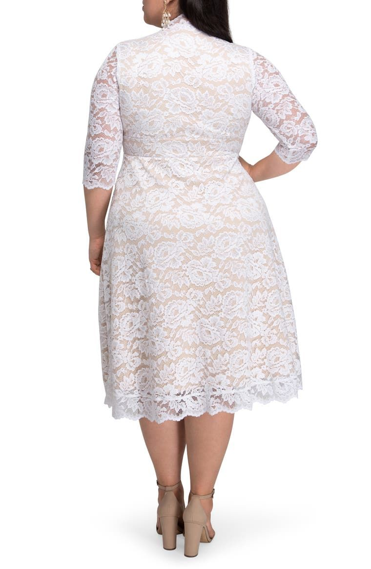 Kiyonna Bella Lace Fit Flare Dress Plus Size Nordstrom In 2020 Fit Flare Dress Flare Dress Dresses [ 1164 x 760 Pixel ]