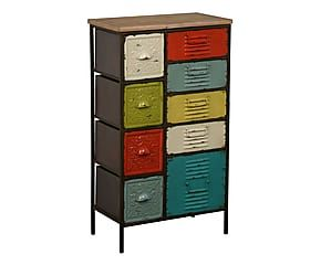 commode fabricio m tal et bois multicolore h107 inspirations meubles pinterest commodes. Black Bedroom Furniture Sets. Home Design Ideas