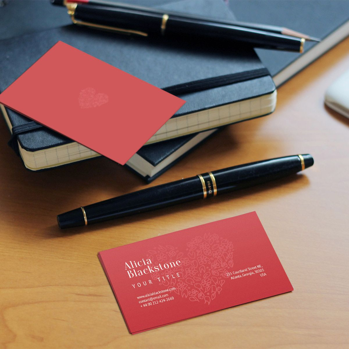 Notebooks Mockup With Black Element On Black Background: Klevist: I Will Design Ultra Fresh Business Card For $5 On