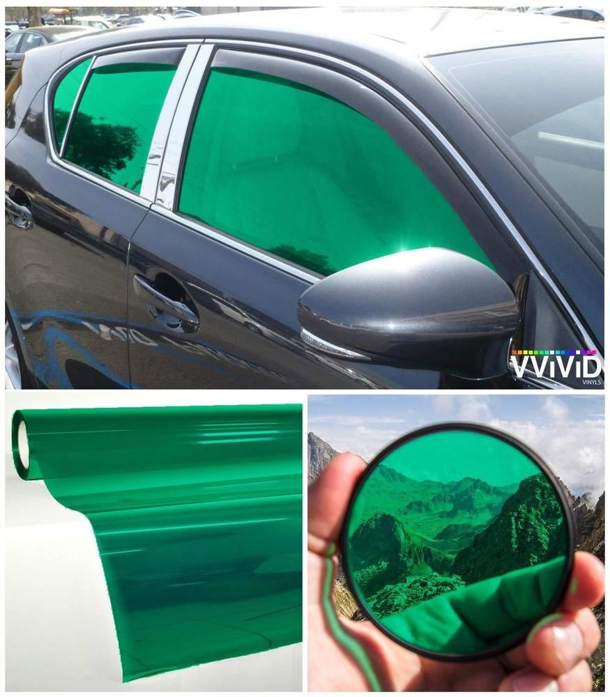 Car Window Tinting Durable Privacy Transparent Vinyl Film 30 X60 2 Packs Green Tinted Windows Green Windows Tints