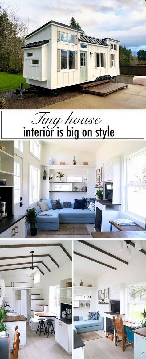 This custom built tiny house is big on interior design tinyhouseyard also exterior rh pinterest
