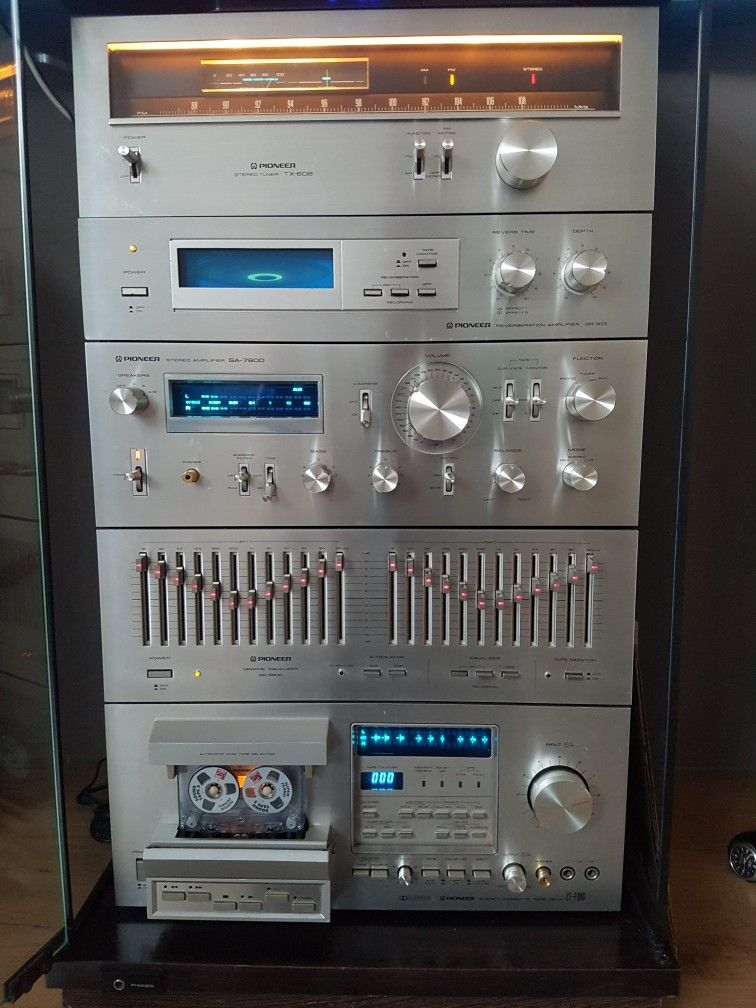 pioneer blue line fluor vintage audiophile hifi audio. Black Bedroom Furniture Sets. Home Design Ideas