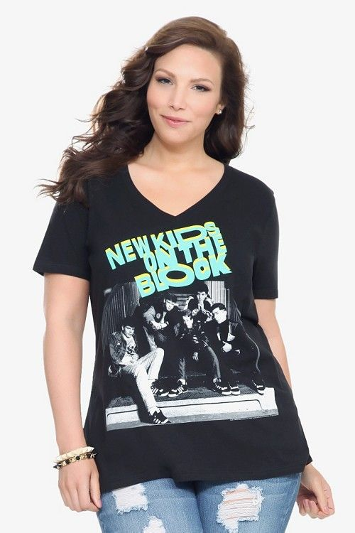 0f8b41011 Anytime I can find a plus-sized NKOTB shirt, I BUY IT. Otherwise, I make my  own. New Kids On The Block V-Neck Tee | Select Regular Price (Excluding  Select ...