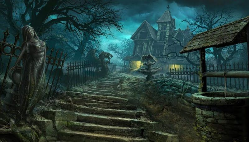 Creepy yard and mansion (With images)