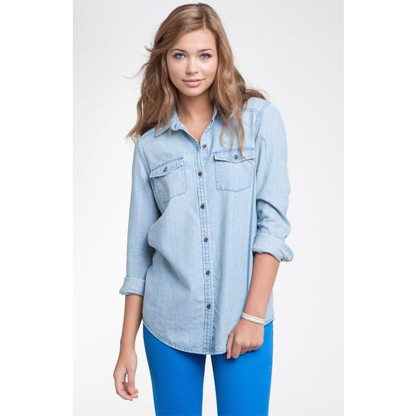 Rubbish® Chambray Shirt (Juniors) found on Polyvore