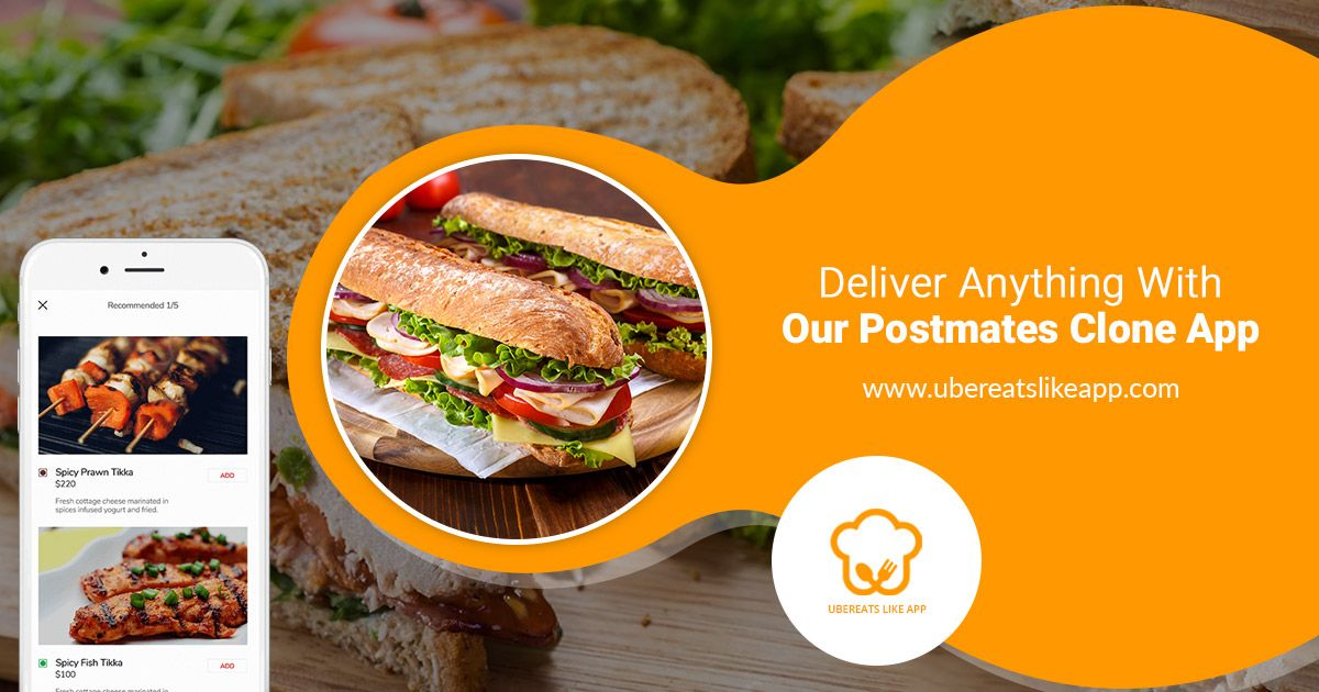 Cost to Create an App like Postmates Food delivery app