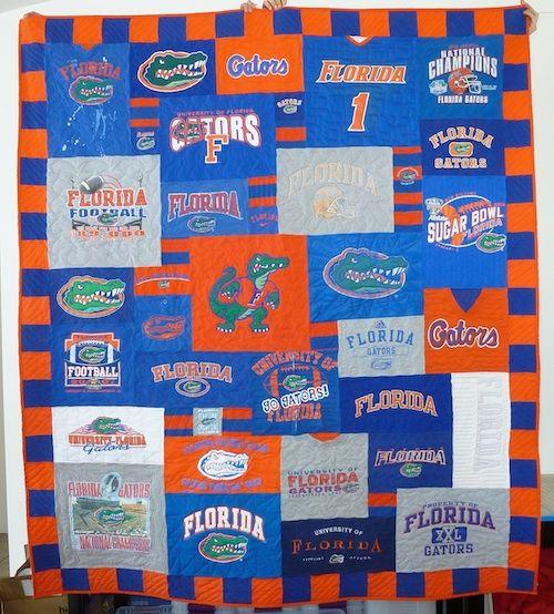 Florida Gators Too Cool T-Shirt Quilt   Too Cool T-shirt Quilts ... : too cool tshirt quilt - Adamdwight.com