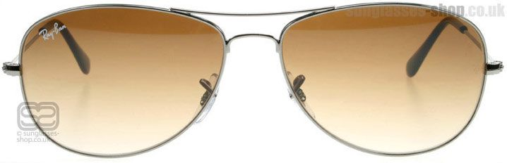 77ee9e745a Ray-Ban Cockpit Sunglasses   Cockpit Brown Gradient 004 51 Small 56mm   UK