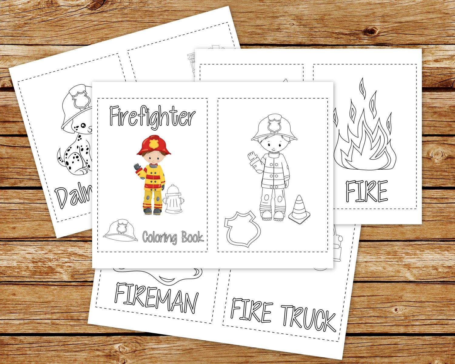 Firefighter Coloring Book Printable Fireman Birthday