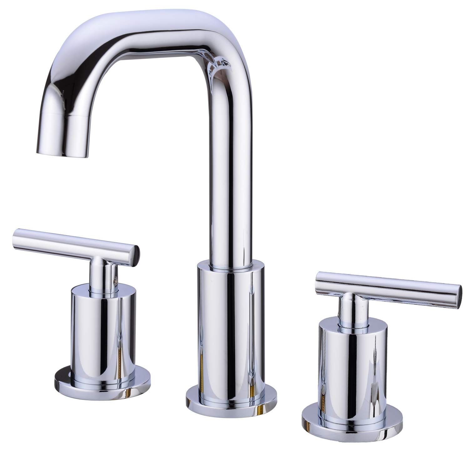 Trustmi Two Handle High Arc 8 Inch Widespread Bathroom Sink Faucet With Cupc Faucet Supply Lines Matte Sink Faucets Bathroom Sink Faucets Basin Sink Bathroom