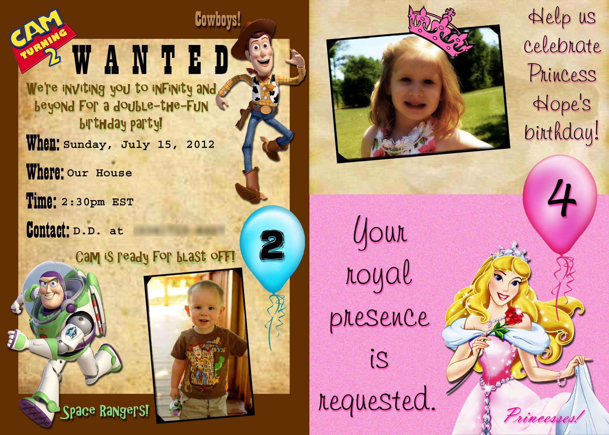 Pin by D.D. Miller on Princess & Toy Story Party | Pinterest ...