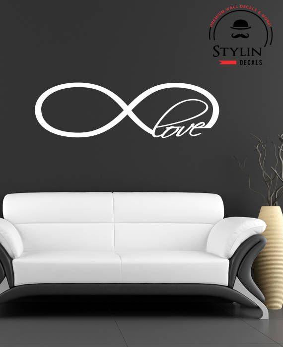 Love Infinity Symbol Wall Decal Infinity Loop Wall Decal Vinyl