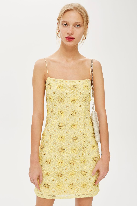 b4c4af686503 Bead and Lace Slip Dress | Dance Dresses | Lace slip, Mini slip ...