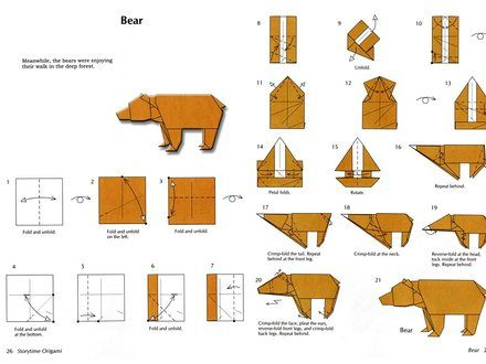 Origami Bear Instructions | Origami | Origami, Bear ... - photo#18