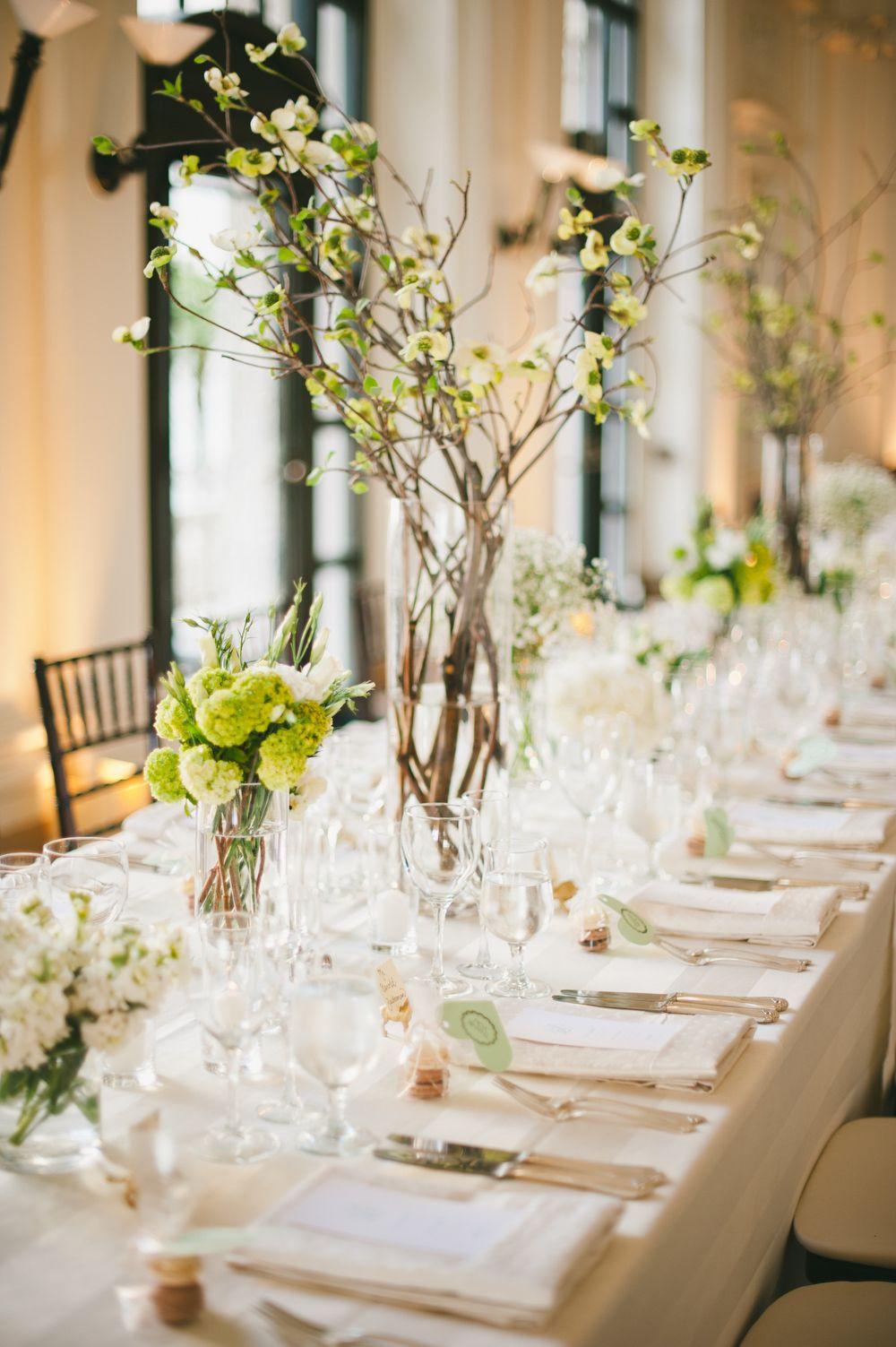 Modern Dogwood Branch Centerpieces   Wedding flowers   Pinterest ...