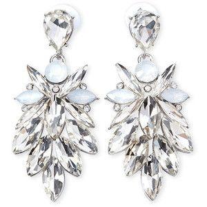 Forever 21 Rhinestone Petal Drop Earrings