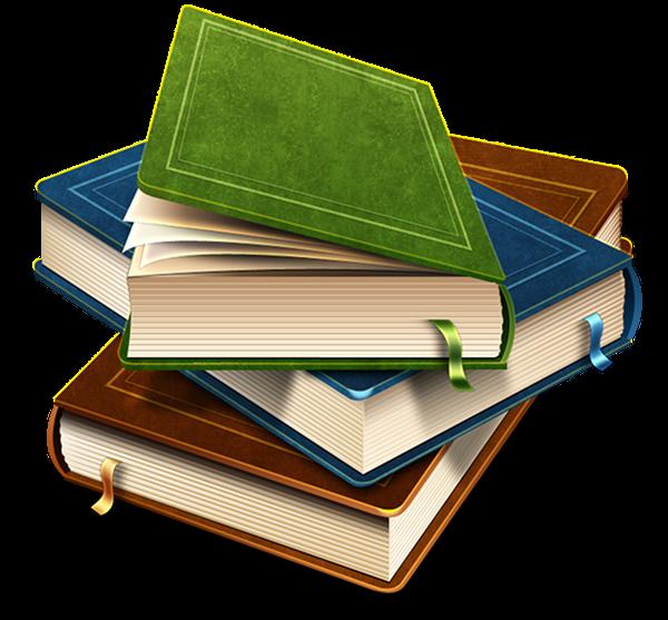 стопка книг, книги для чтения, книги с закладками, чистая ...