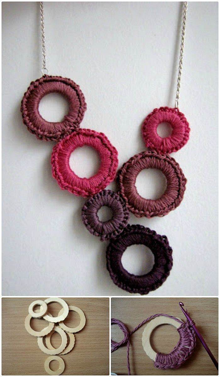 19 Free Crochet Jewelry Patterns To Change Your Fashion | Obras de ...