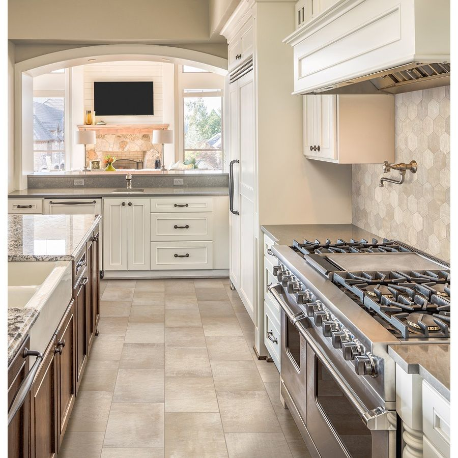 Lowes Kitchen Designer: Shop Style Selections Cityside Beige Glazed Porcelain