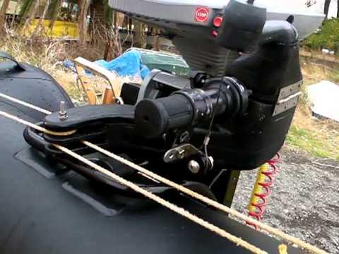 3 2馬力スモールボートのステアリングシステムとスロットルシステム Youtube ボート モーターボート 馬力