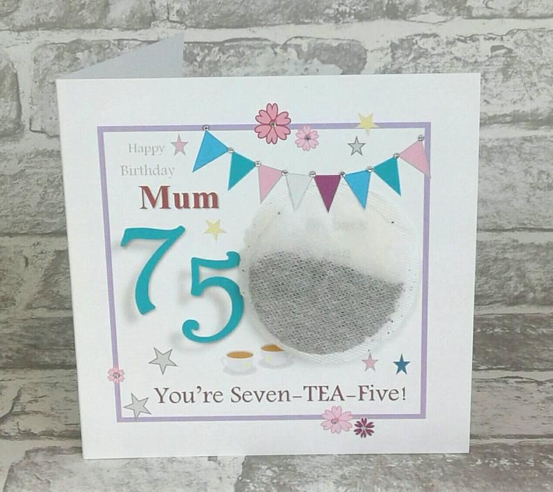 Personalised 75th Birthday Card Mum 75th Birthday Grandma Etsy 65th Birthday Cards Birthday Cards 60th Birthday Cards