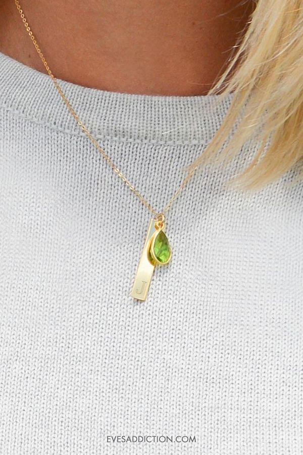 Perfect in every way, custom birthstone necklaces are an perfect gift for every occasion. Easy and versatile to engrave with a name or initial, Eve's Addiction offers easy online customization and savings up to 30%. Select from silver, gold or rose gold pendants and add a birthday birthstone for the perfect gift for mom or loved one. Shop today and it will ship in 24 hours! #birthstone