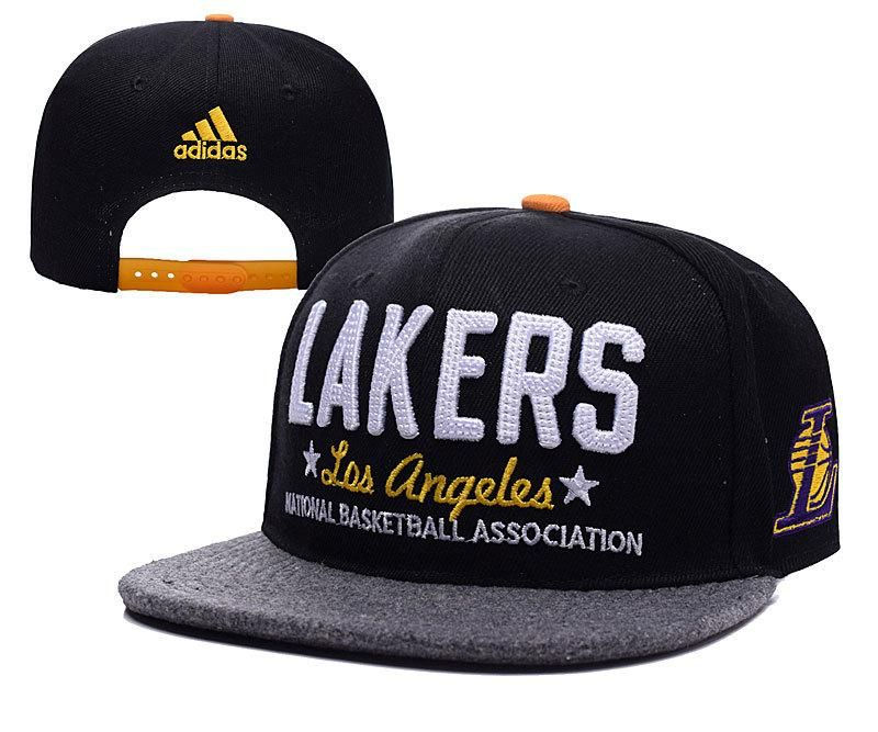 a1531d91d0e Mens Los Angeles Lakers adidas National Basketball Association NBA Chain  Star Snapback Cap - Black   Grey