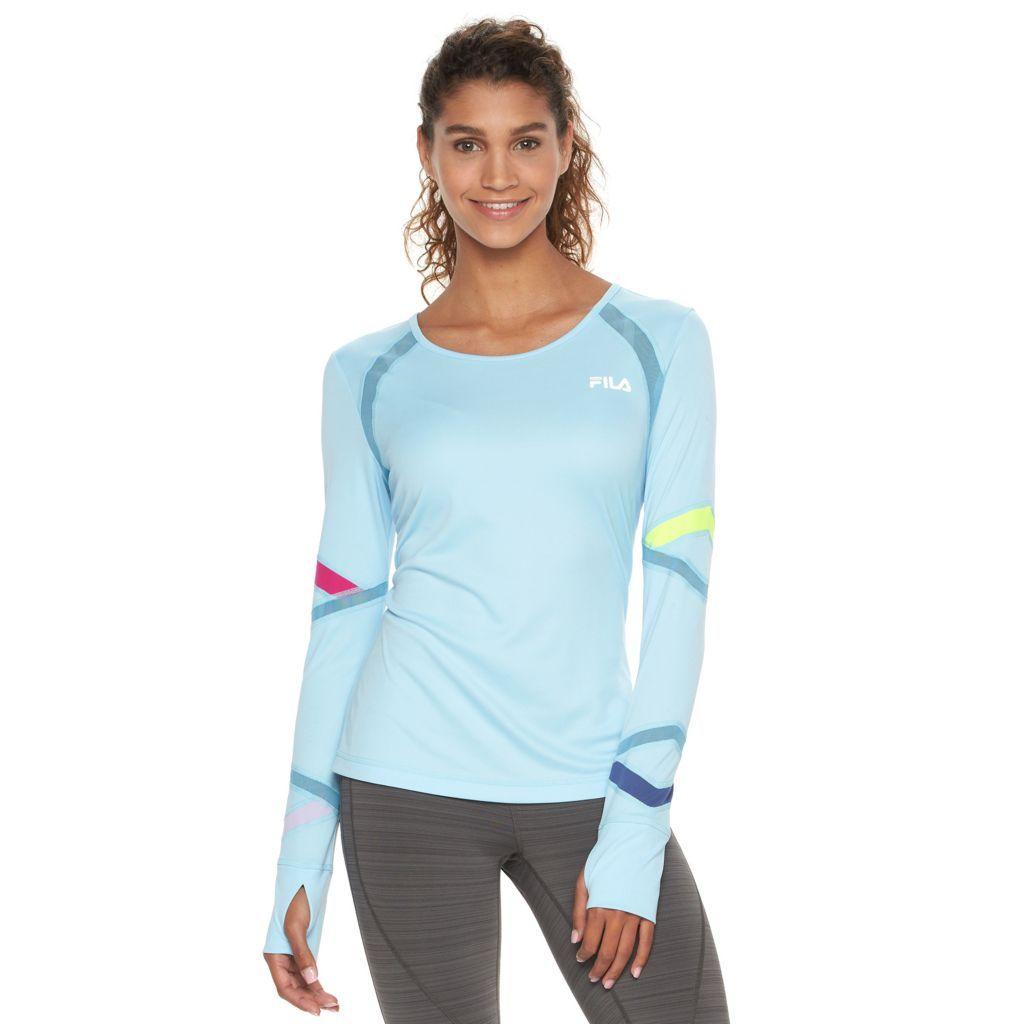 caa11805 Women's FILA SPORT Mesh Long Sleeve Tee   Workout & Hiking Gear ...