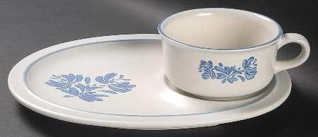 PfaltzgraffYorktowne (USA), Snack Tray & Soup Mug Set, $23.99 at Replacements, Ltd