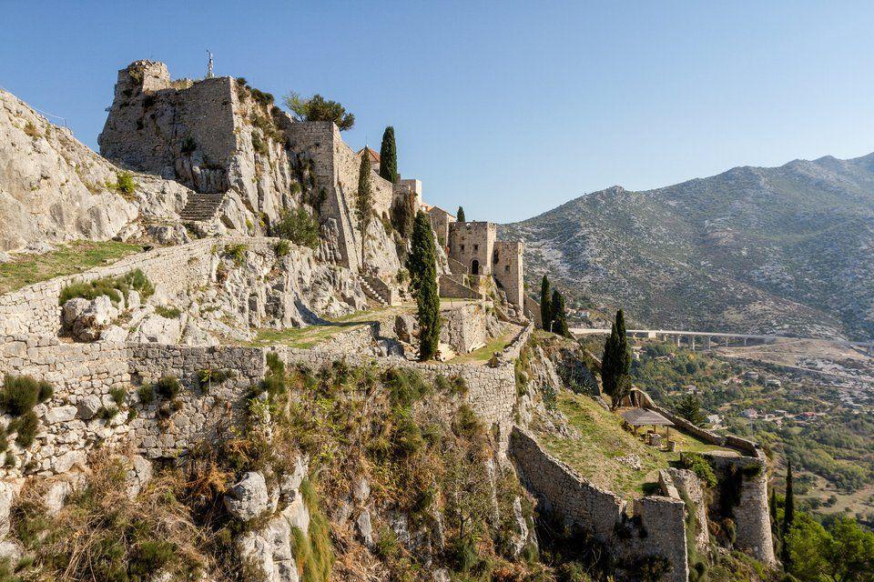 The beautiful fortress of Klis near Split, Croatia has a