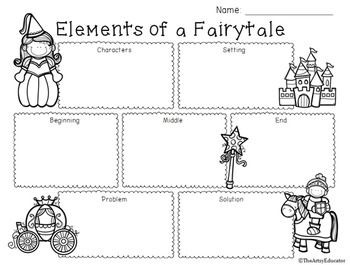 A Free Graphic Organizer To Use With Any Fairy Tale Genre Story Includes Bo For Characters Setting Beginning Middle End Problem