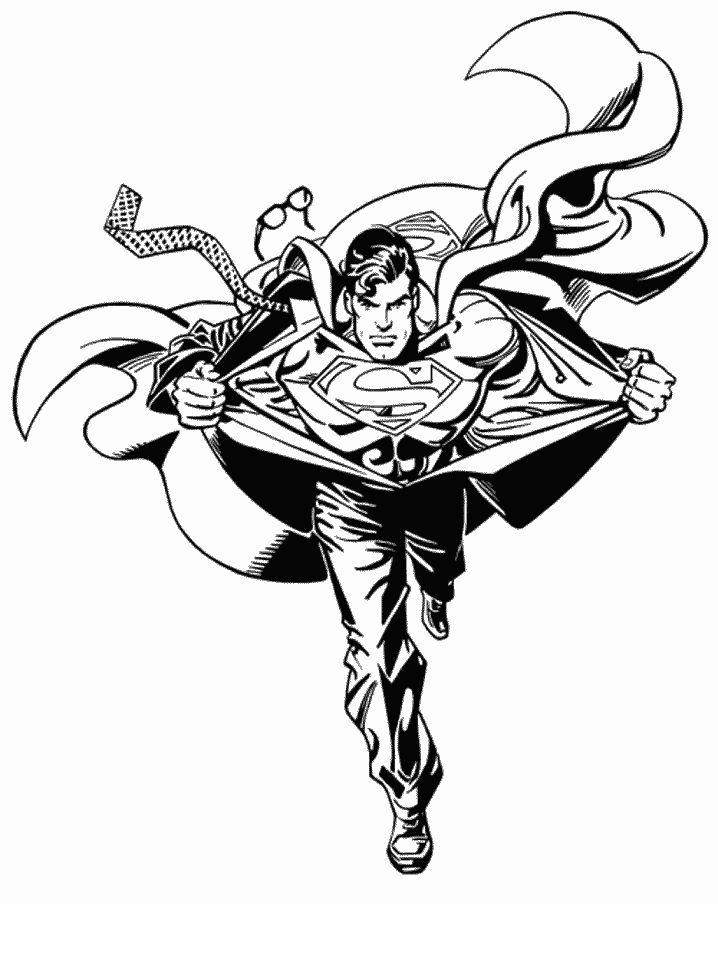 Dibujos para Colorear Superman 1 | logos | Pinterest | Colorear ...