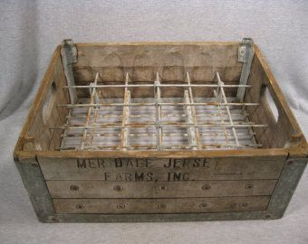 Antique Bottle Drying Rack Milk Bottle Crate Vintage