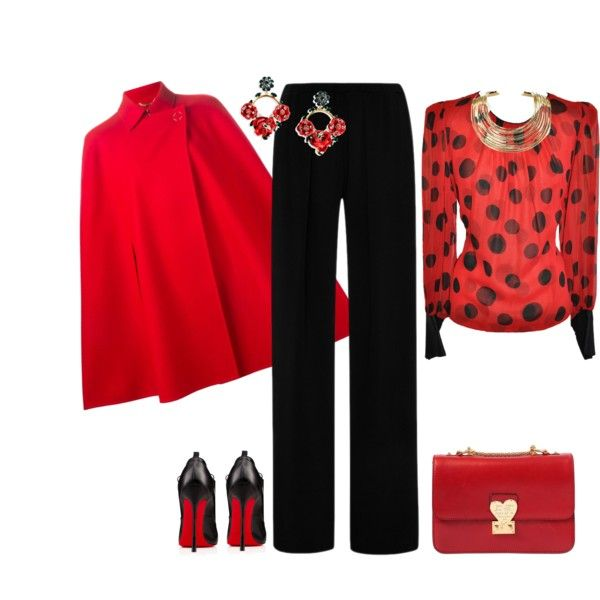 outfit  2494 by natalyag on Polyvore featuring polyvore, ファッション, style, Versace, Clover Canyon, DK, Valentino, Dolce&Gabbana and Bisjoux