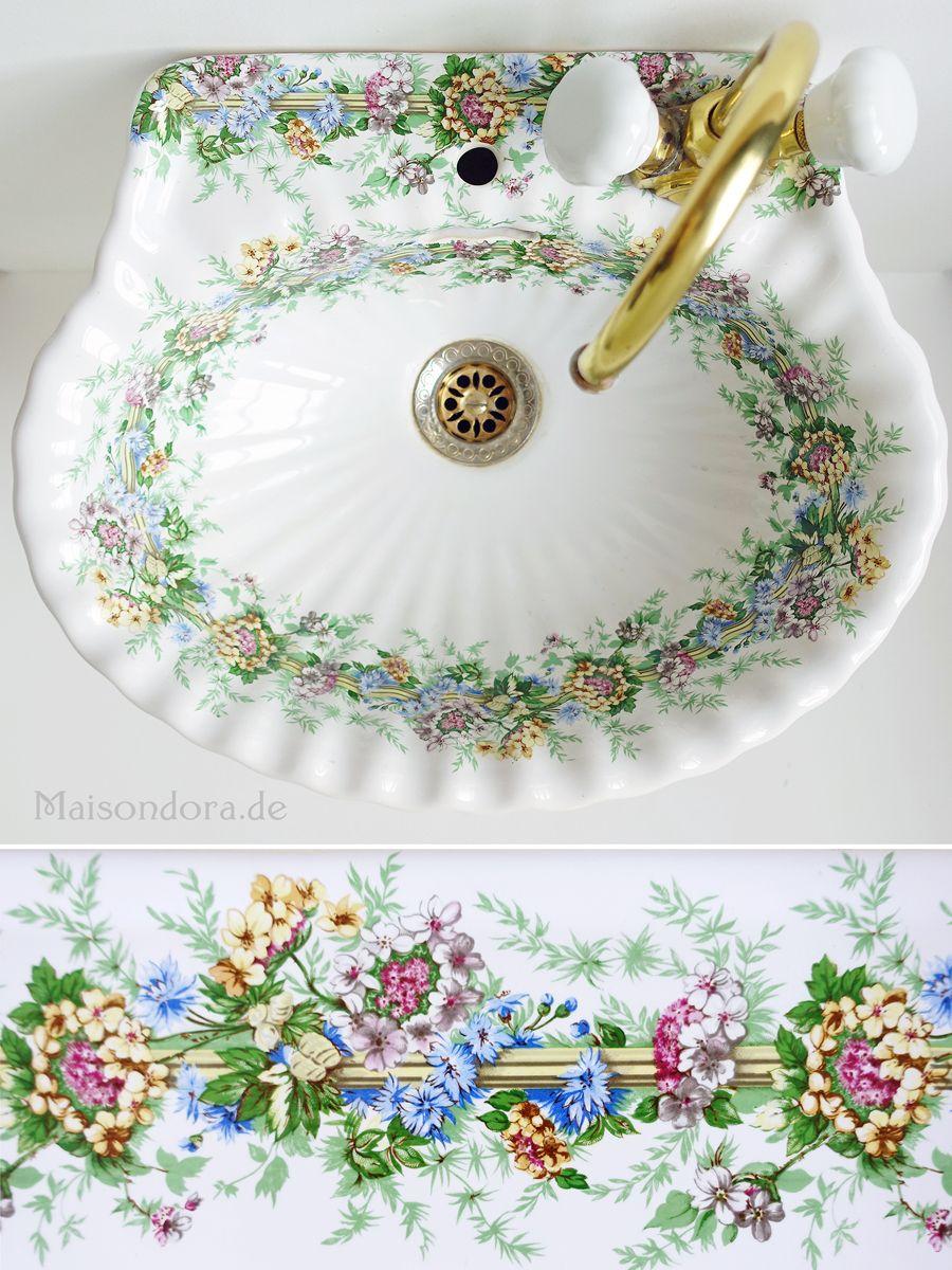 Vintage Waschbecken Porcelaine De Paris Von Maisondora Vintage