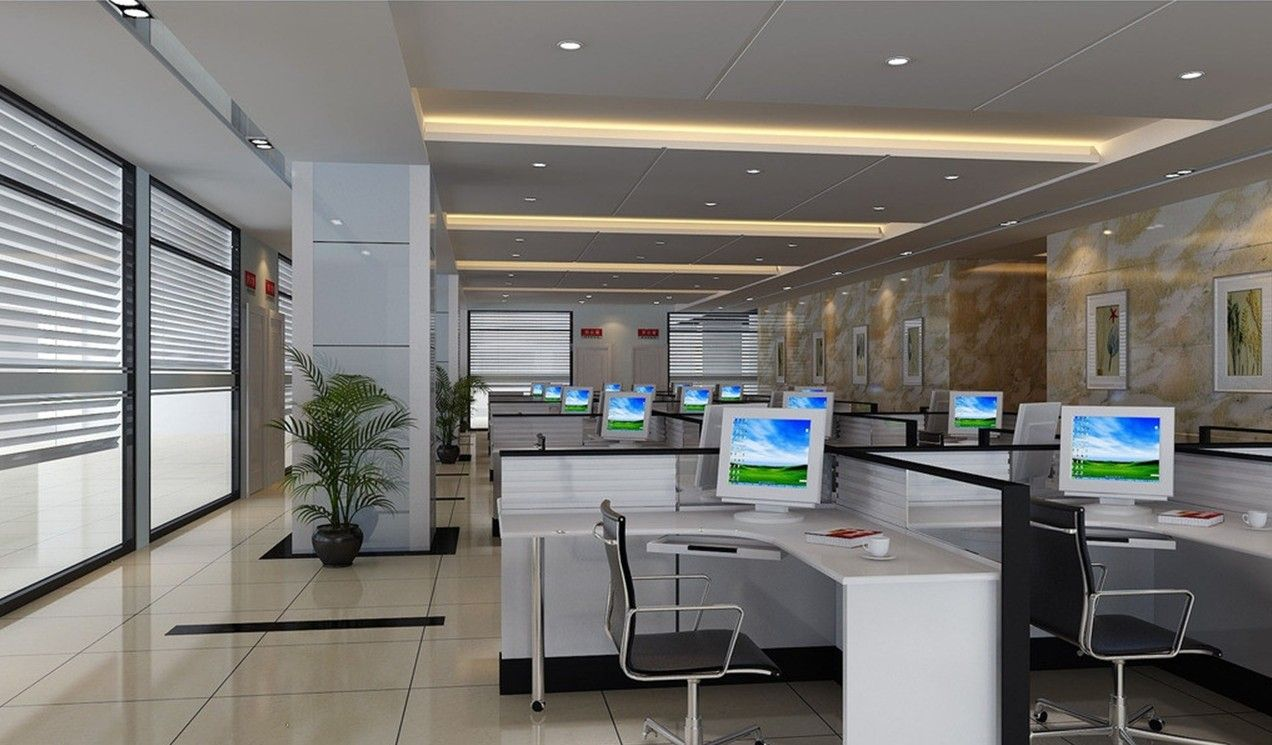 Commercial ceiling treatment ideas ceiling wall pillars for Office ceiling design