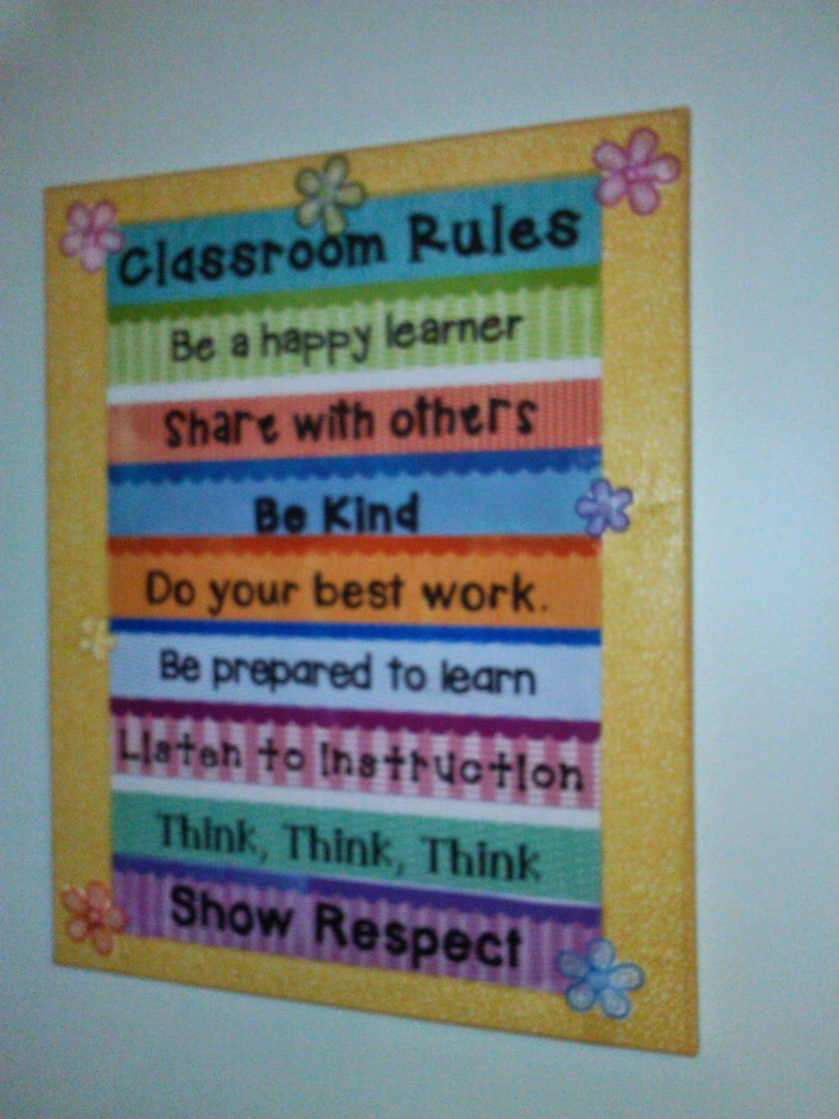 Classroom Rules Decor : Crafty teacher giveaway stop classroom rules