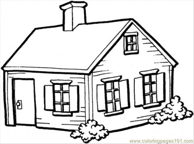 Small House In The Village House Colouring Pages Dream House Drawing House Colouring Pictures